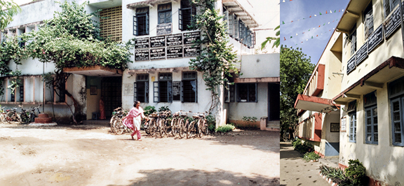 A fresh coat of paint happened somewhere between 1996 (left) and 2012 (right).