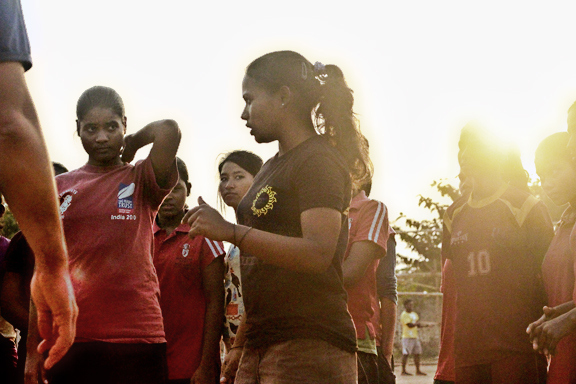 As one of the most veteran players, Bhagya is often responsible for passing on the rugby knowledge that she's picked up at various training camps and competitions