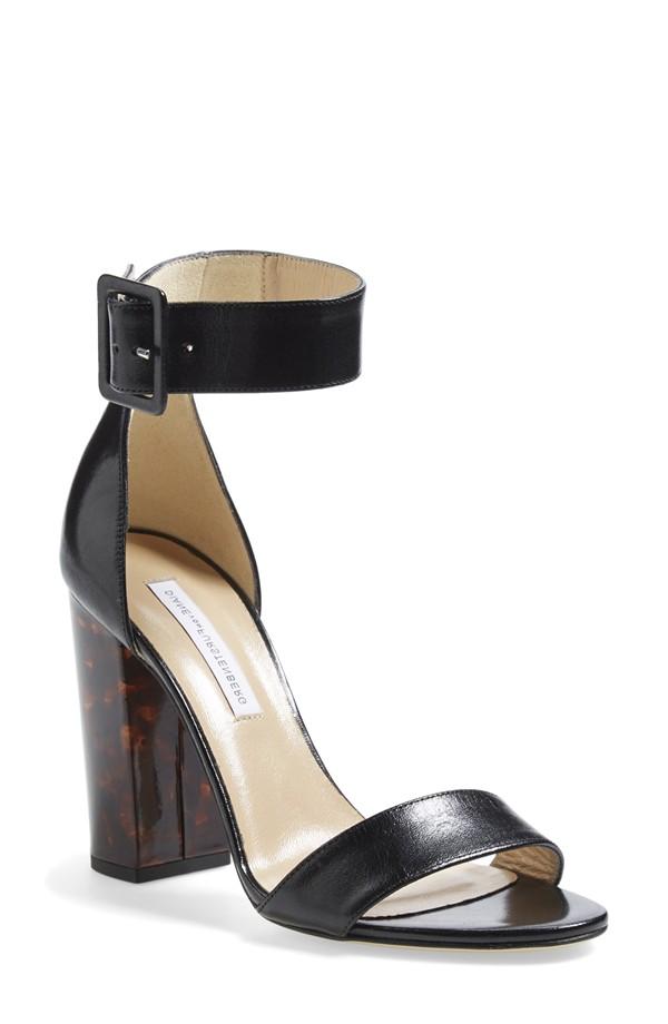 Diane von Frustenberg 'Ulrica' Leather Ankle Strap Sandal Nordstrom $325.00
