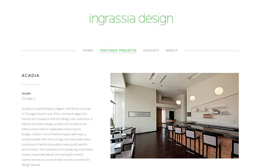 Ingrassia Design Strategic Development, Navigation, And Coding For High End  Restaurant Design Firm