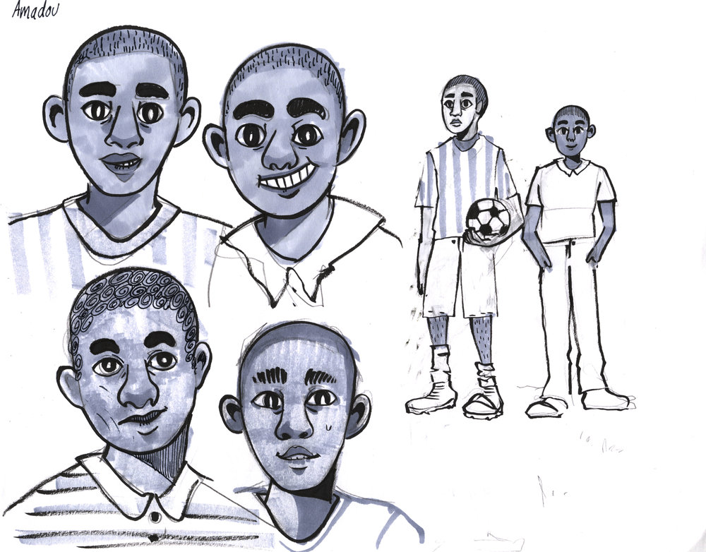 Illustration development for teen HIV book