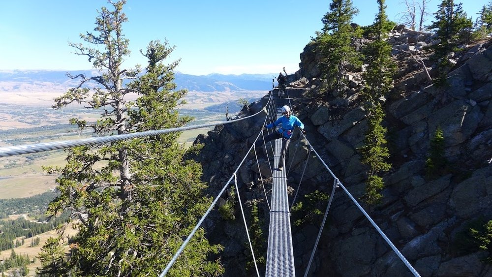 Jackson Hole Via Ferrata Bridge