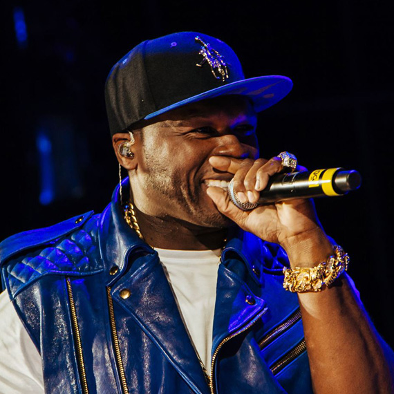 50cent at Summer jam in a 18karat Willie Lynch from our Private Collection