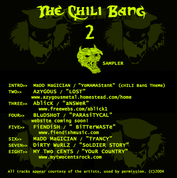 """THE CHILI BANG 2: SAMPLER,"" COMPILATION CD (2004)"