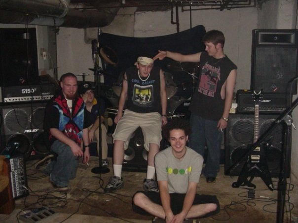 Fiendish, just us having fun in 2003.  Before the album, before the troubles.  (Matt Tanner, Joe Flick, Me, Benjamin Dixon, Joshua Deaton)