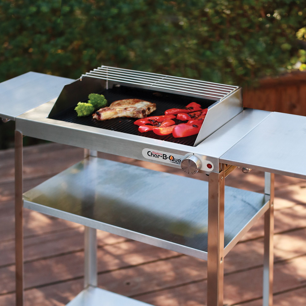 EA-150 Stainless Steel Rollabout Cart with Side Shelves