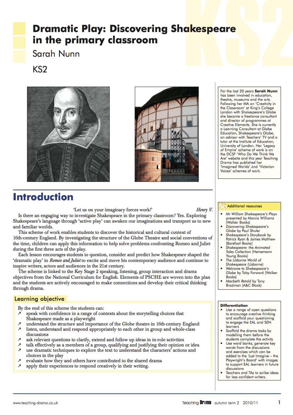 explore the ways that shakespeare makes