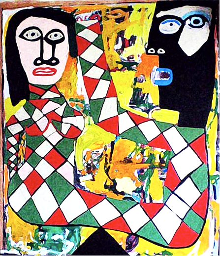 Love's Jesters  91 x 78 in.