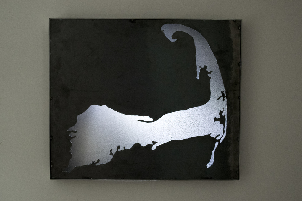 "Steel Cape Cod Cut Out Framed 24 1/4"" x 20 1/2"""