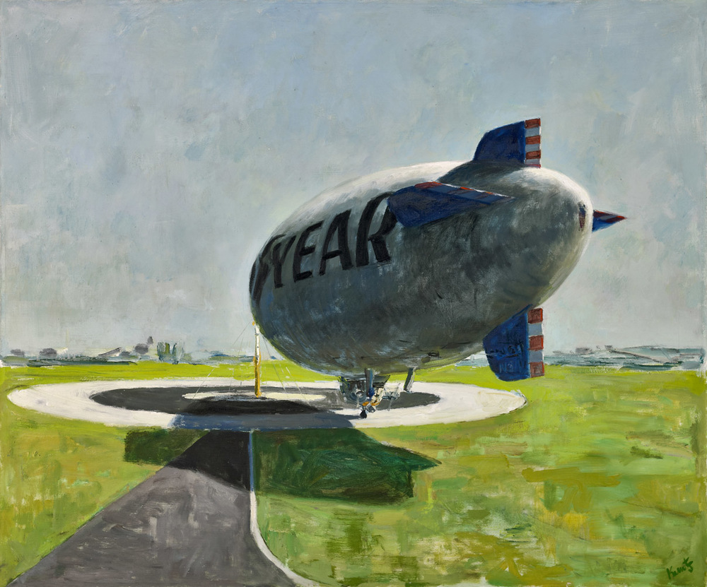Goodbye on Target (Blimp series) , circa 1969, oil on canvas, 50 x 60 inches; 127 x 152.4 centimeters