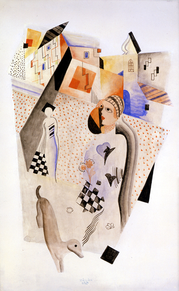 Composition Two, circa 1925, watercolor on paper, 21 1/4 x 14 inches; 54 x 35.6 centimeters