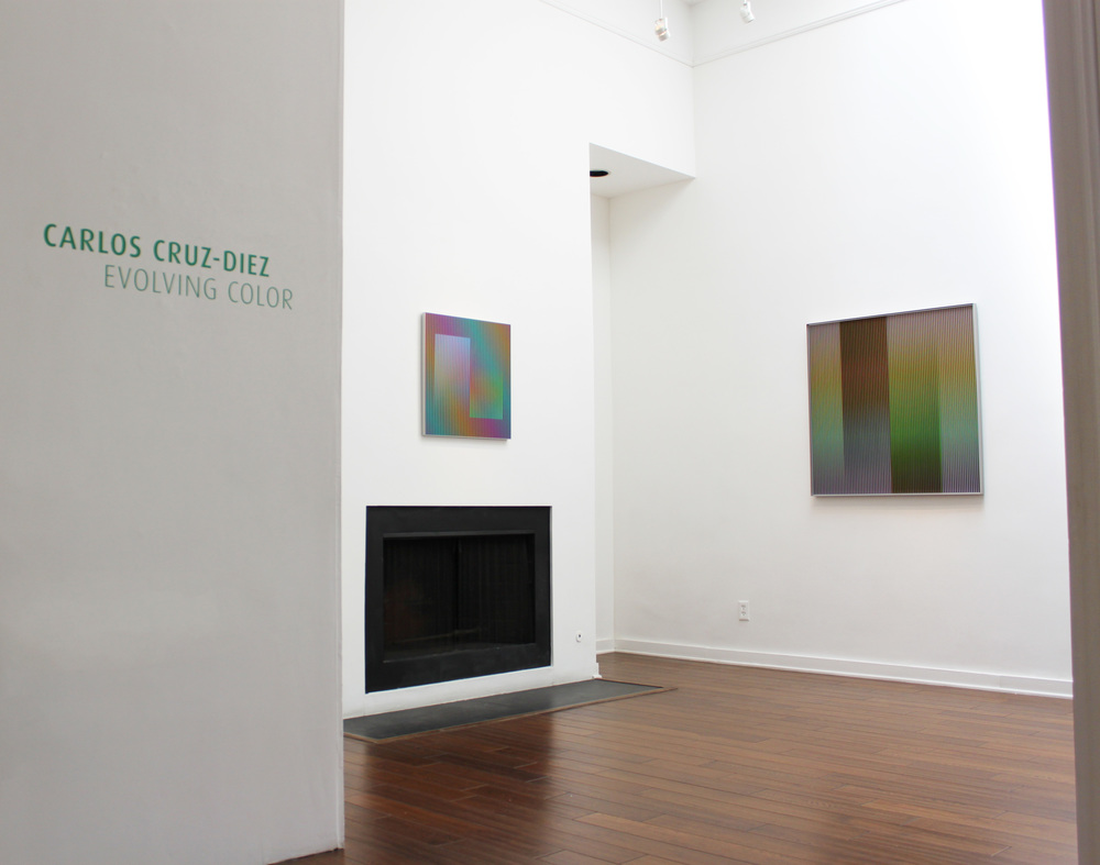 Right to left:  Carlos Cruz-Diez   Color Aditivo Betzaida 2 , 2011    Physichromie no 1863 , 2013