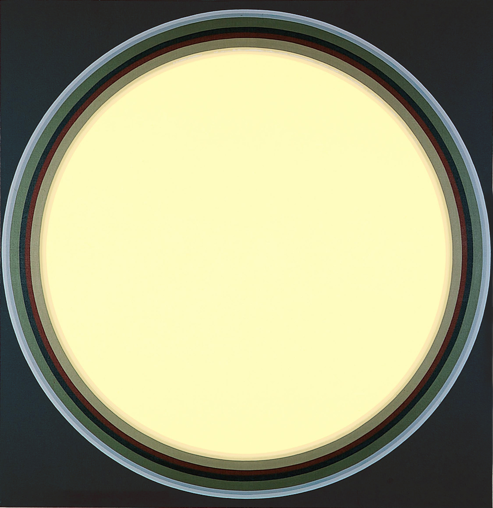 John Stephan: Disk #10, 1971, acrylic on linen, 70 x 68 inches