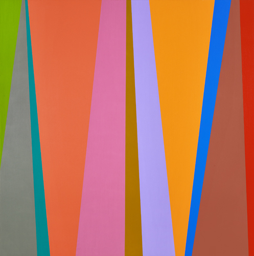Karl Benjamin, #4, 1995, oil on canvas, 48 x 48 inches