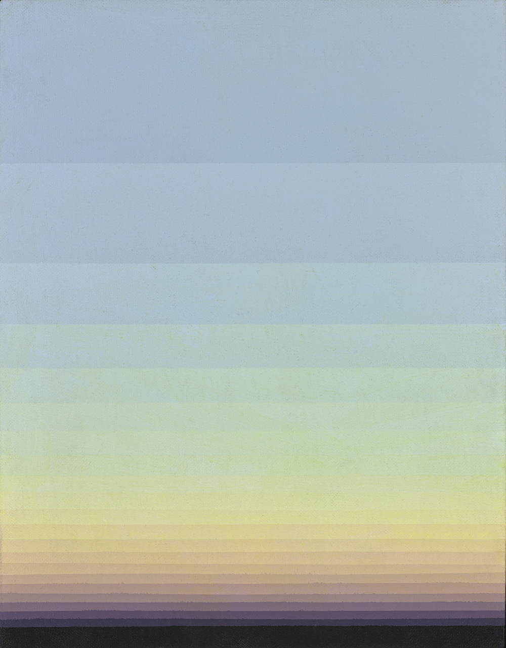 Norman Zammitt, Grey 28A, 1986, acrylic on canvasboard, 11 x 14 inches; 27.9 x 35.6 centimeters