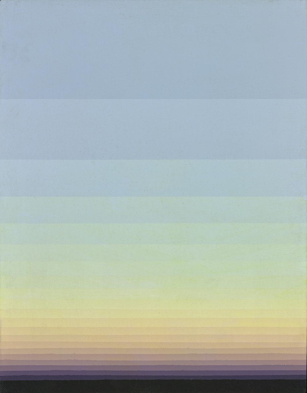 Norman Zammitt, Grey 28A, 1986, acrylic on canvasboard, 11 x 14 inches; 27.9 x 35.6 centimeters