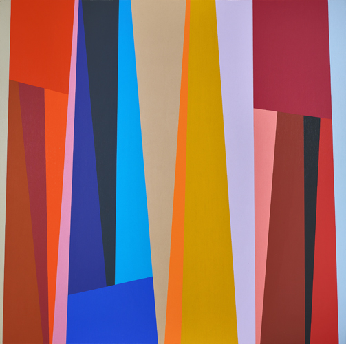 #3, 1994, oil on canvas, 48 x 48 inches; 121.9 x 121.9 centimeters