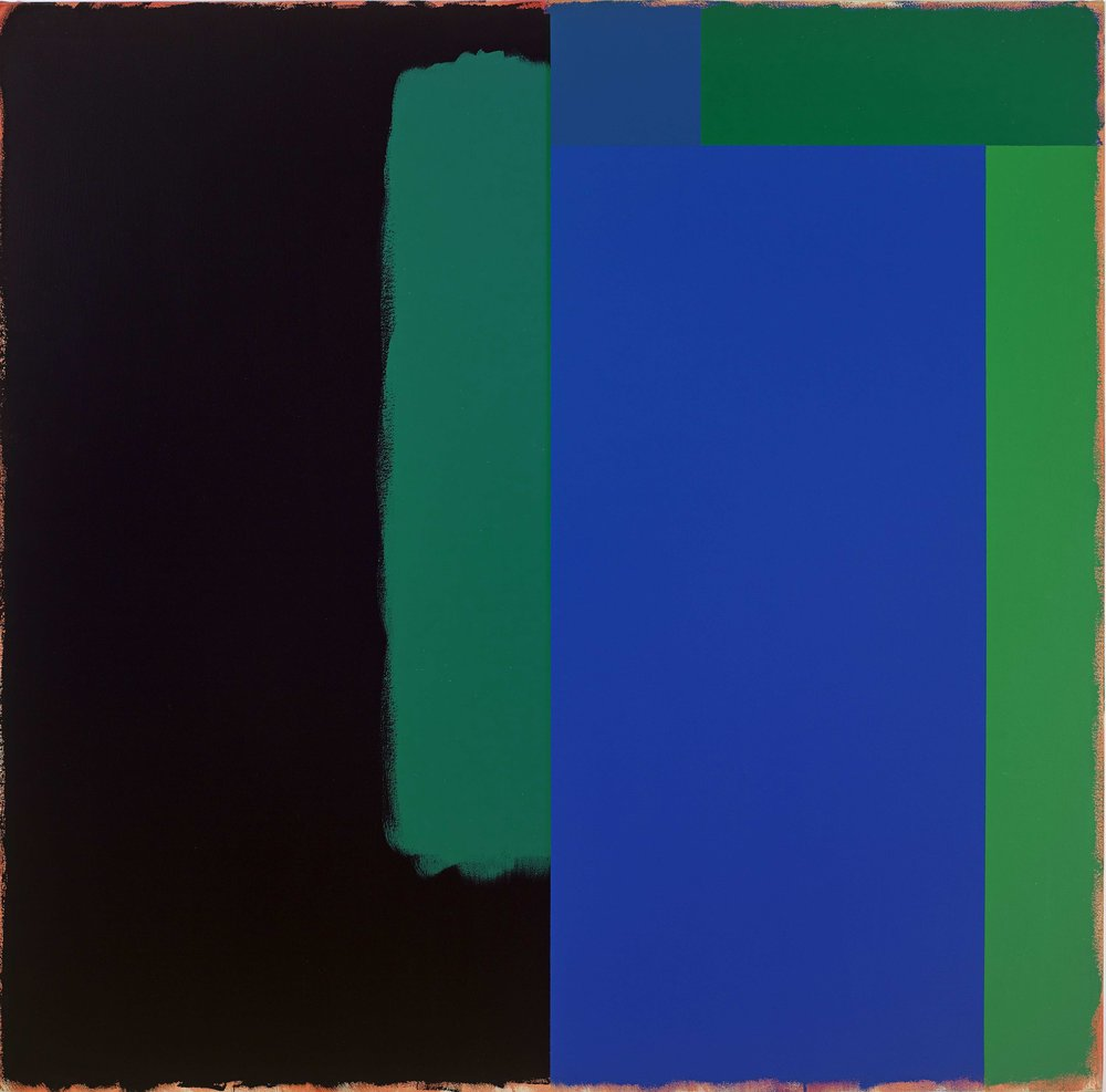 Doug Ohlson, Marker / The Deep, 1986, acrylic on canvas, 60 x 60 inches