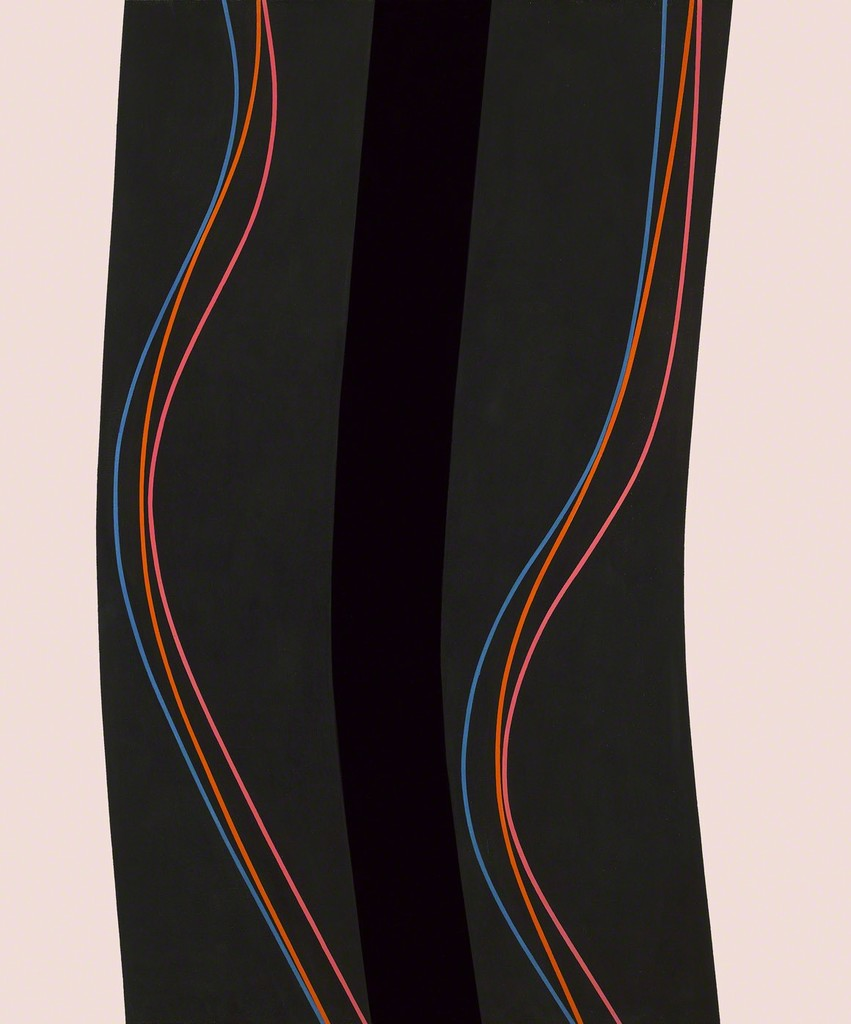 Lorser Feitelson, Untitled (October 25), 1964, oil and enamel on canvas, 72 × 60 inches