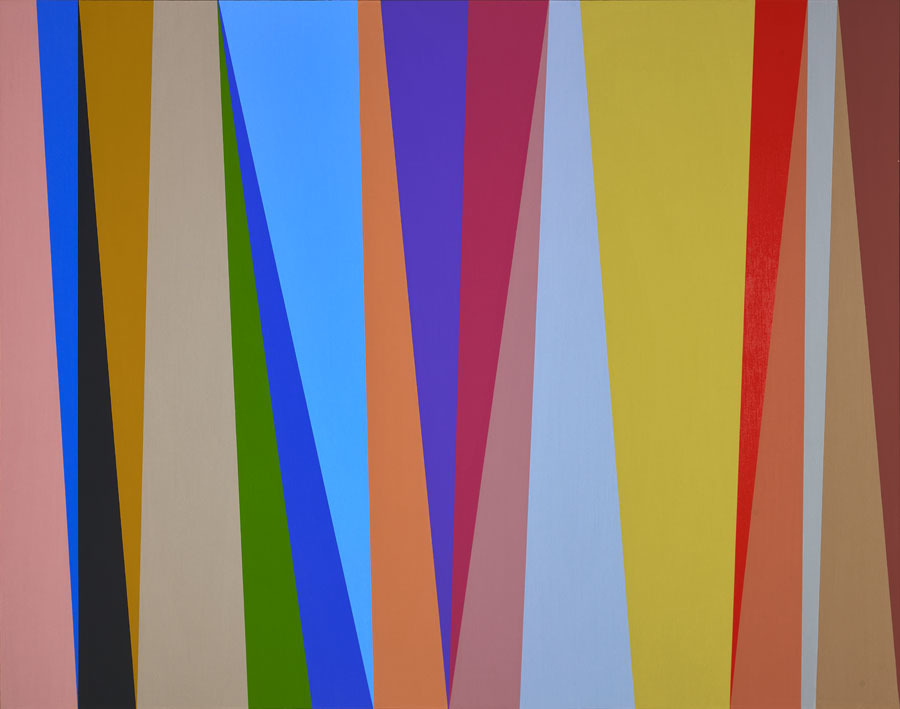 Karl Benjamin,  #8 , 1995 Oil on canvas 44 × 56 inches; 111.8 × 142.2 centimeters