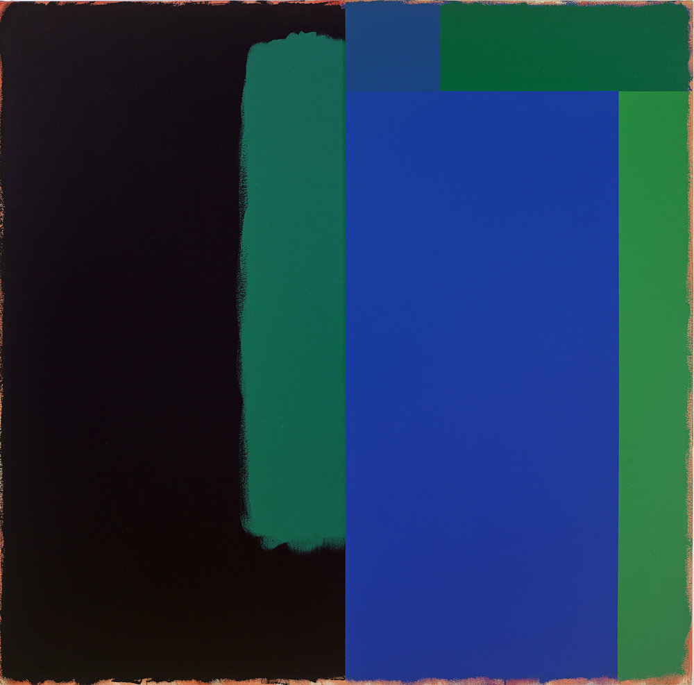 Marker/The Deep, 1966, acrylic on canvas, 60 x 60 inches; 152.5 x 152.4 centimeters