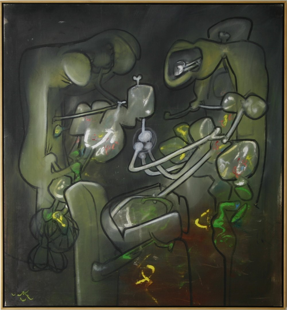 Roberto Matta   Flash of Flesh , 1971 oil on canvas 53 x 49 inches 134.6 x 124.5 centimeters