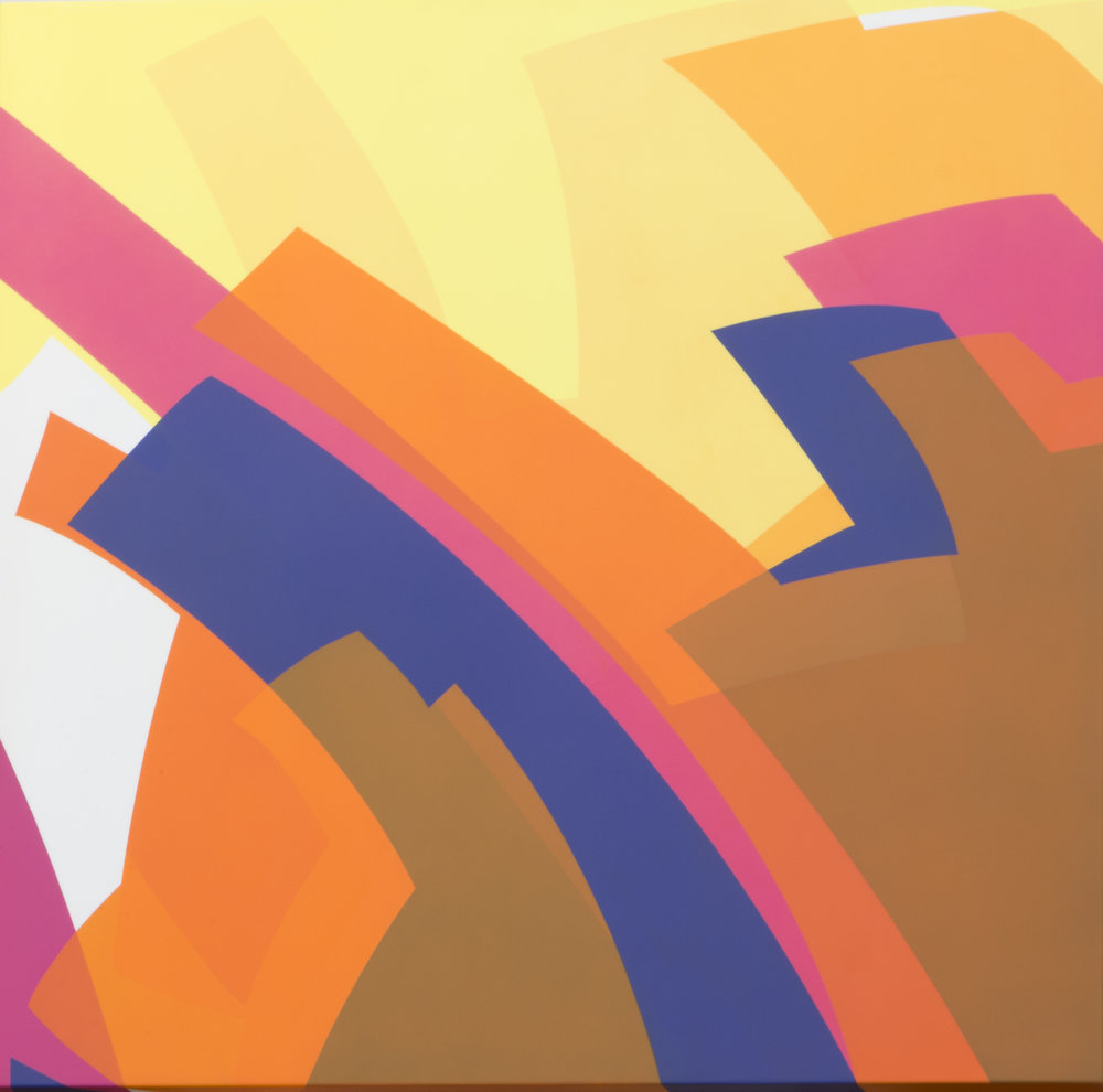 Manuel Ojeda  (b. 1968)  Violeta 3/02 , 2016 urethane paint on aluminum 23 5/8 x 23 5/8 inches 60 x 60 centimeters