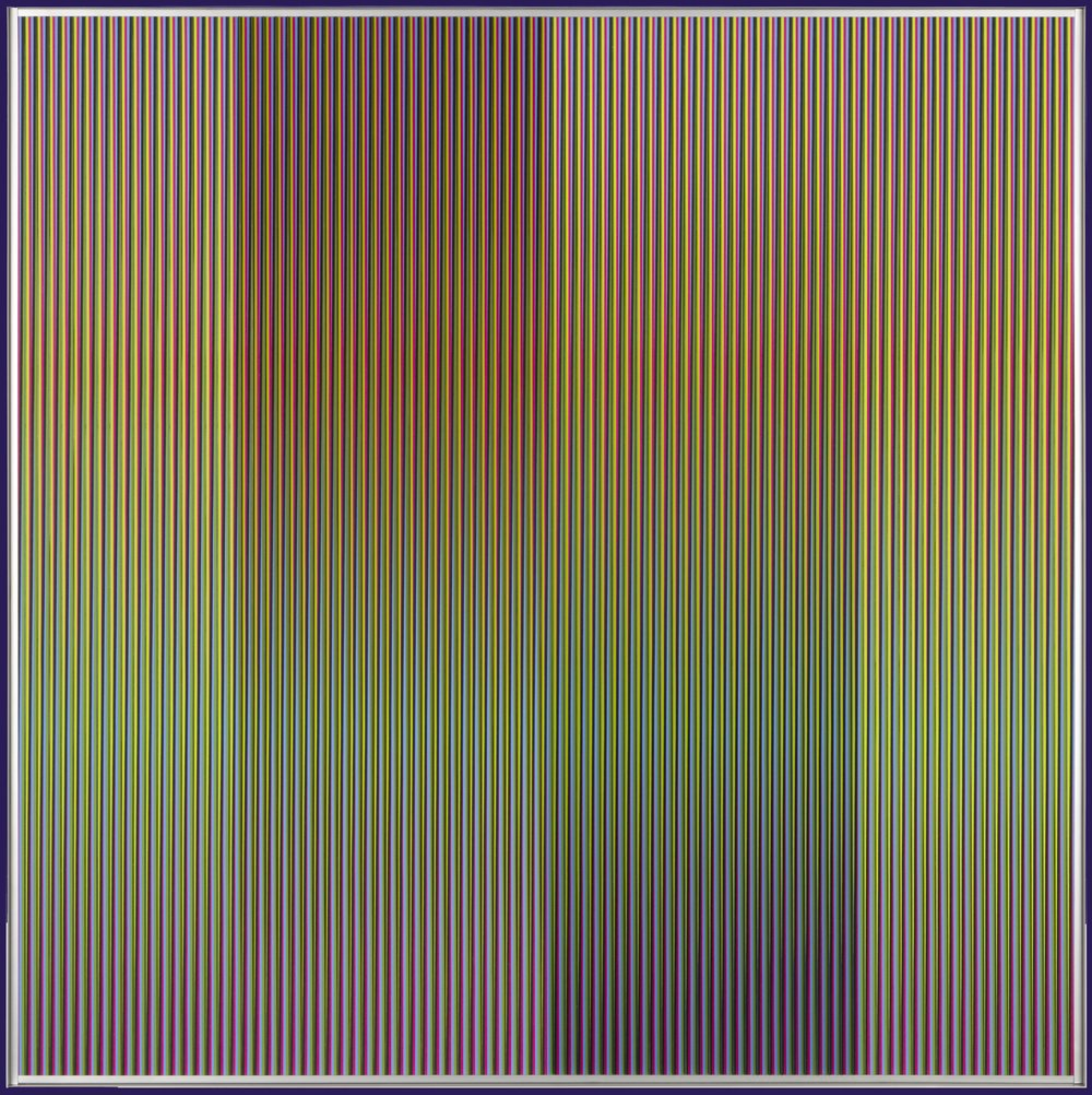 Carlos Cruz-Diez  (b. 1923)  Physichromie no 1863 , 2013 mixed media 39.37 x 39.37 inches 100 x 100 centimeters