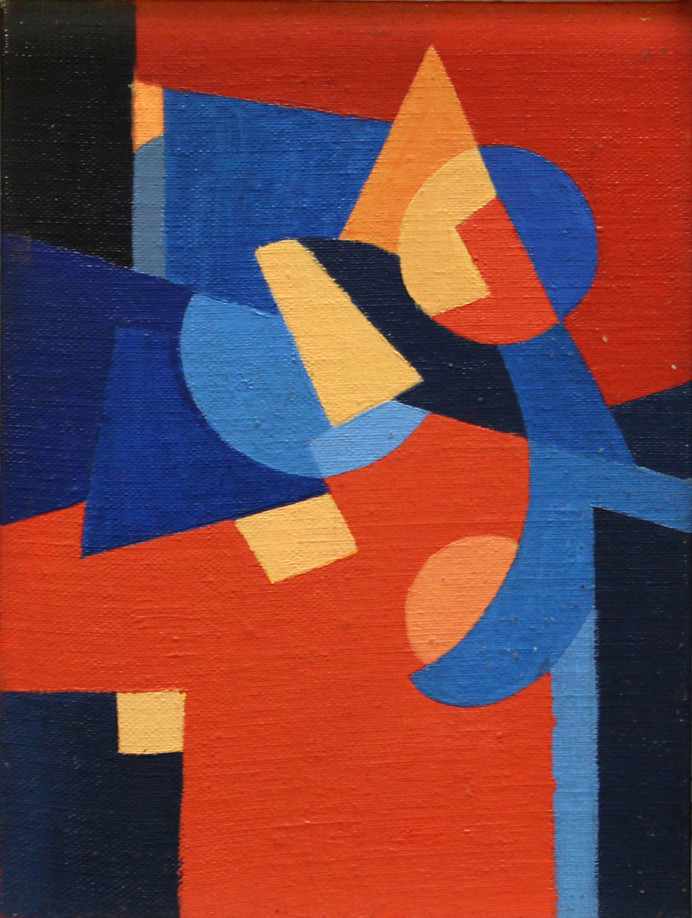 Anita Payró  (1897-1980)  Untitled Abstract Composition , circa 1965 oil on board  9 3/8 x 7 inches 23.8 x 17.8 centimeters