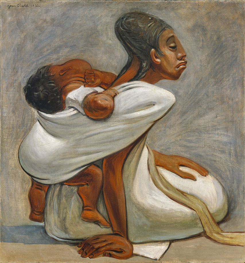 Jean Charlot   Mother and Child , 1930 oil on canvas 29 1/2 x 27 1/2 inches 74.9 x 69.9 centimeters