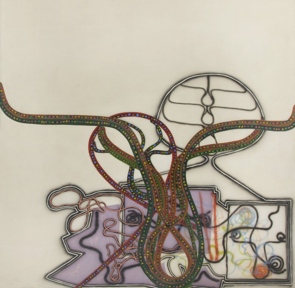Bernard   Cohen (b. 1933)   Anarynth , 1964 oil and tempera on canvas  60 x 60 in. (152.4 x 152.4 cm) LSFA# 14063