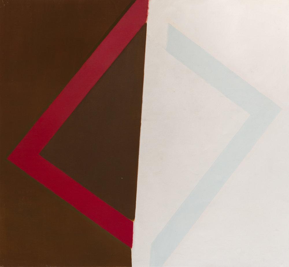 Michael Kidner (1917–2009)   Split Diamond , 1961 oil on canvas  44 1/4 x 48 in. (112.4 x 121.9 cm) LSFA# 14070
