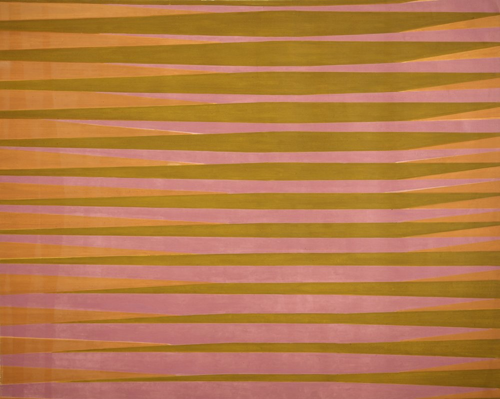 Michael Kidner (1917–2009)   Stripes Study for Bill , 1962 oil on canvas  47 3/4 x 59 1/2 in. (121.3 x 151.1 cm) LSFA# 14069