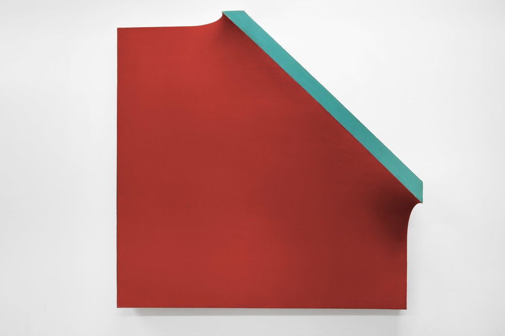 Richard Smith (1931–2016)   A Whole Year a half a day VIII , 1966 acrylic and canvas with aluminium    60 x 60 x 11 3/4 in. (152.4 x 152.4 x 29.8 cm) LSFA# 14072