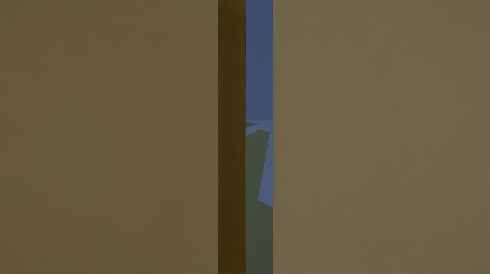 Helen Lundeberg (1908-1999)   Narrow View , 1961  oil on canvas 30 x 54 inches; 76.2 x 137.2 centimeters