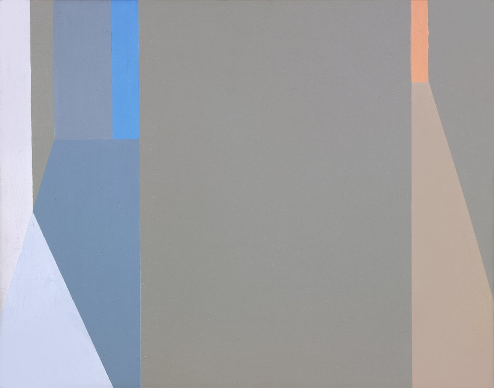 Helen Lundeberg (1908-1999)   Untitled (Evening Lights and Shadows) , 1975  acrylic on canvas 14 x 18 inches; 35.6 x 45.7 centimeters