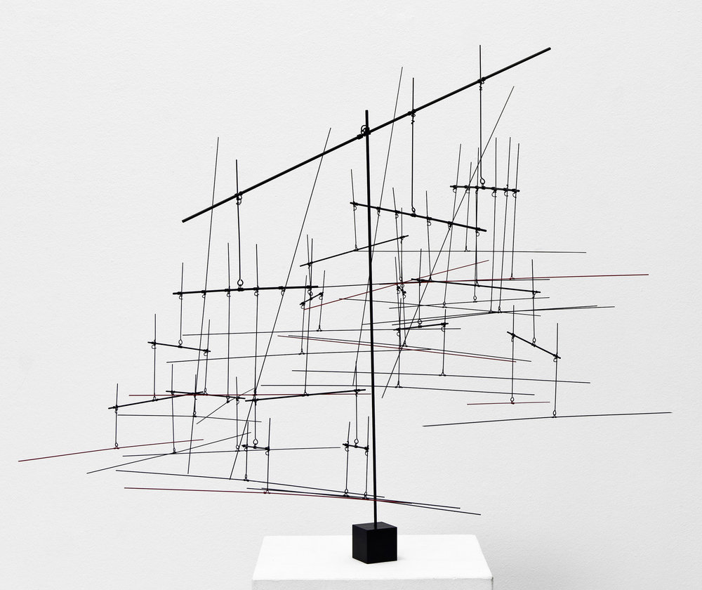 Knopp Ferro, b. 1953   System 20:14 , 2013  stainless steel with powder coating  31 1/2 x 43 1/4 x 21 5/8 inches; 80 x 110 x 55 centimeters