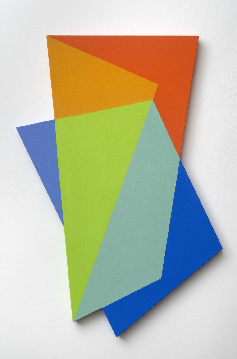 Laget, Mokha, b. 1959   Veils #4 , 2018  flashe and clay paint on shaped canvas  54 x 36 inches; 137.2 x 91.4 centimeters