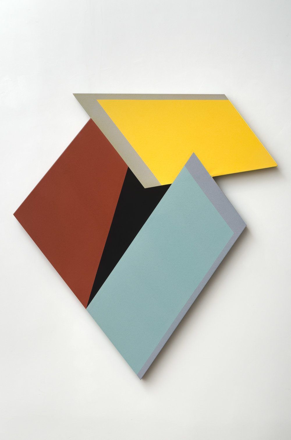 Laget, Mokha, b. 1959   Outskirts #2 , 2018  acrylic and clay pigment on shaped canvas  43 x 47 inches; 109.2 x 119.4 centimeters
