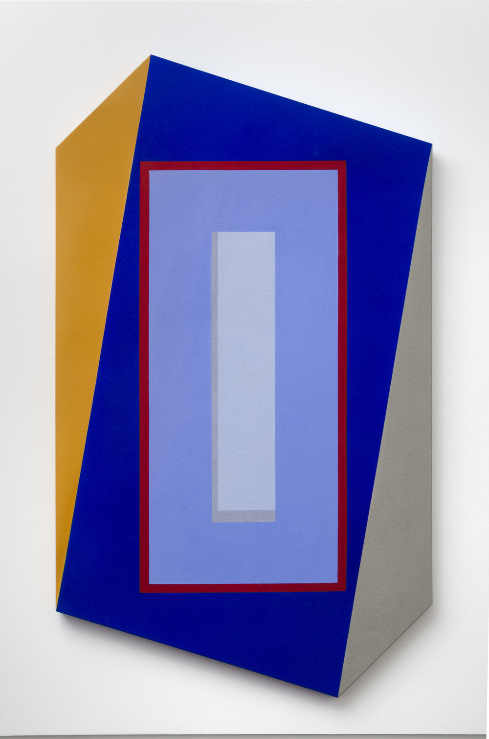 Mokha Laget, b. 1959   Unbound , 2018  acrylic, pigment, flashe on shaped canvas  60 x 36 inches; 152.4 x 91.4 centimeters