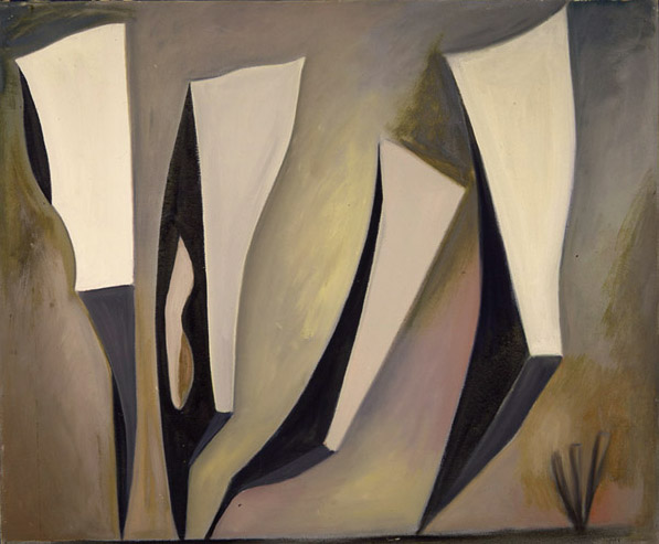 Lorser Feitelson (1898-1978)   Untitled, Magical Forms , 1947 oil on canvas   30 x 36 inches; 76.2 x 91.4 centimeters