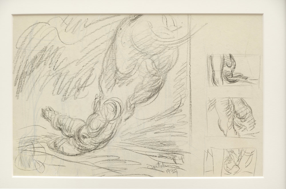 Lorser Feitelson (1898-1978)   Untitled Study , 1939 graphite on paper   11 1/2 x 17 3/4 inches; 29.2 x 45.1 centimeters