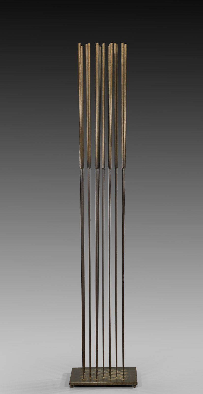 Sonambient , circa 1970  beryllium copper and brass  50 x 10 x 10 inches; 127 x 25.4 x 25.4 centimeters