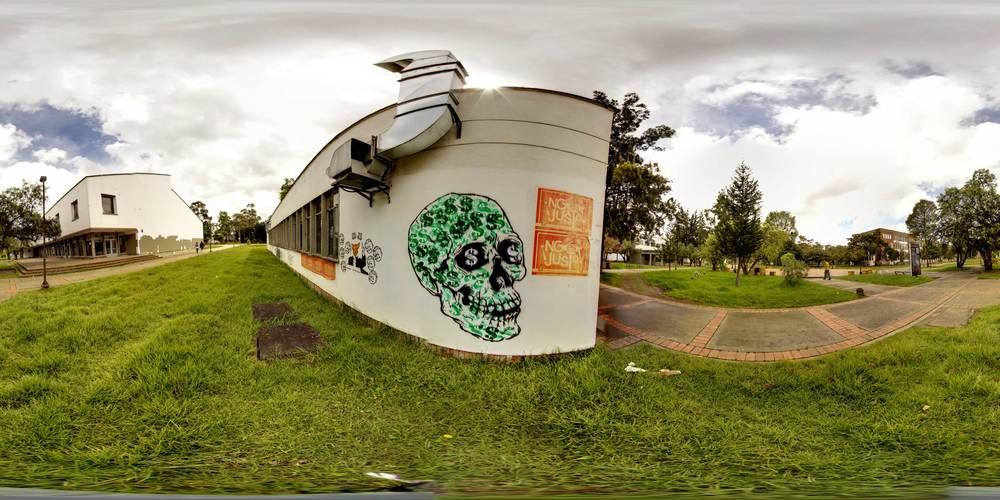 360° Money Skull at the National Universidad de Bogotá