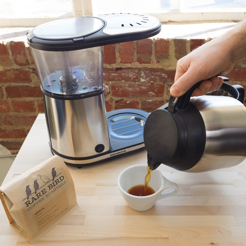 6. Wait for coffee to brew. Decant and enjoy!