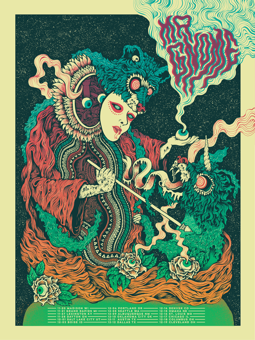 Mr Gnome Gig Poster