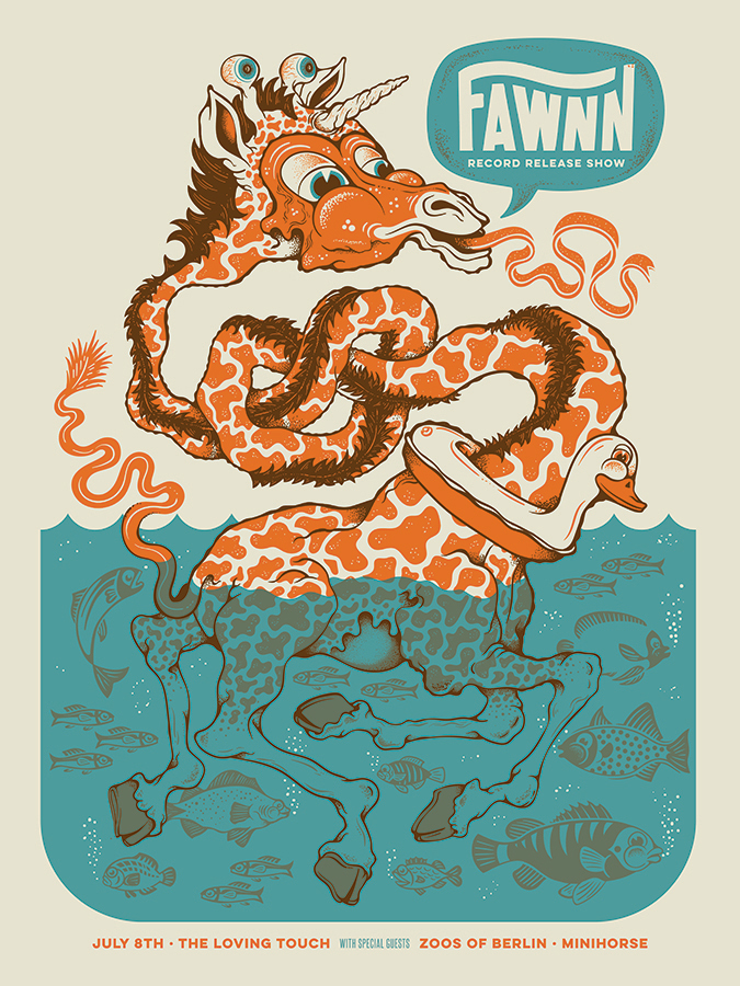 Fawnn Gig Poster