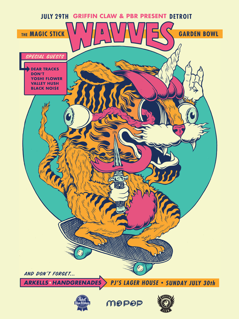 Wavves Gig Poster