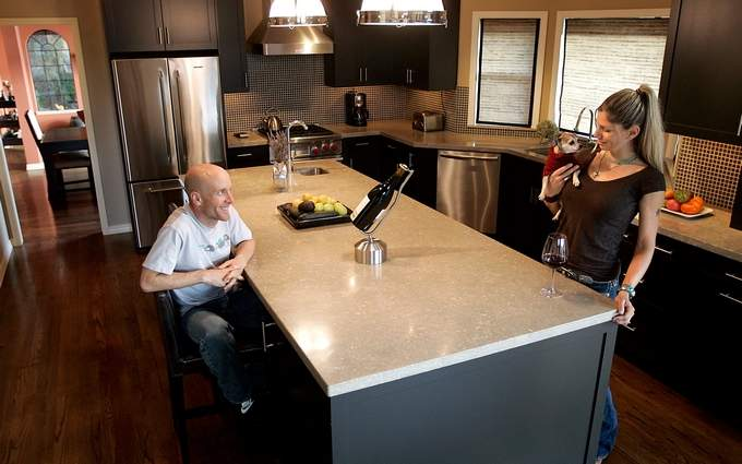 World-class cyclist Levi Leipheimer and his wife, Odessa Gunn, recently remodeled the kitchen of their northeast Santa Rosa home.(CHRISTOPHER CHUNG / PD)