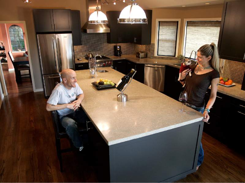 Levi Leipheimer and Odessa Gunn recently remodeled the kitchen of their Santa Rosa home.